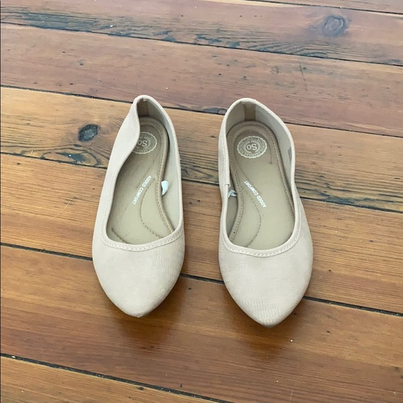SO Shoes - Nude textured flat